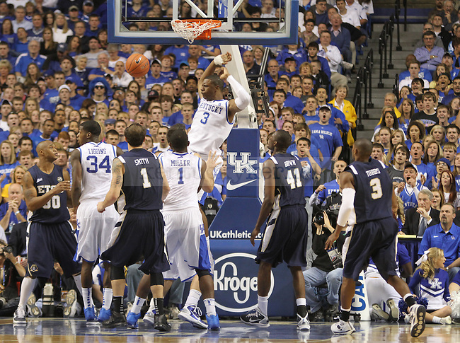 Terrence Jones dunked the ball against East Tennessee State University at Rupp Arena on Friday, November 12, 2010. Photo by Latara Appleby | Staff