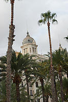 Spain, Alicante, a beach town and historic Mediterranean port.