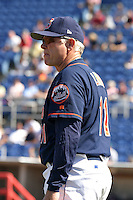 September 5, 2005:  Coach Jack Lind of the Binghamton Mets during a game at Jerry Uht Park in Erie, PA.  Binghamton is the Eastern League Double-A affiliate of the New York Mets.  Photo by:  Mike Janes/Four Seam Images