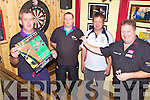 ON TARGET: Causeway locals who are organising a darts fundraiser to help pay for festive lighting in the village over the Christmas season, l-r: Butch Feeley, John McHale, John O'Hara, Colin Lloyd.