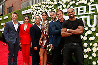 LOS ANGELES - AUG 1:  Alex Russell, Lina Esco. Peter Onorati, Stephanie Sigman, Jay Harrington, Kenny Johnson, Shemar Moore at the CBS TV Studios Summer Soiree TCA Party 2017 at the CBS Studio Center on August 1, 2017 in Studio City, CA