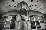 Fairborn OH, theater, ticket booth, bw, art print