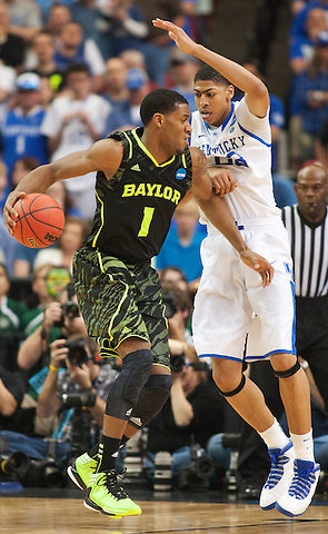 Baylor Bears forward Perry Jones III battles UK forward Anthony Davis. Kentucky faced Baylor during the 2012 NCAA Tournament Regional Finals at the Georgia Dome in Atlanta, March 25, 2012. Photo by