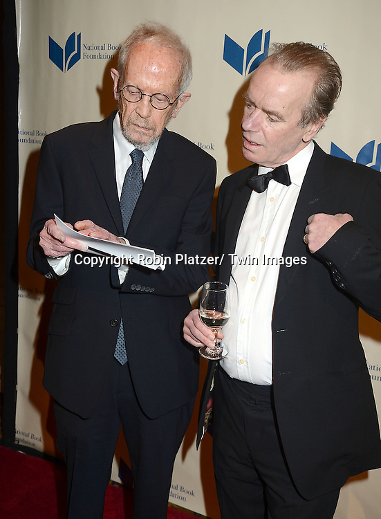 Elmore Leonard and Martin Amis attend the 2012 National Book Awards Dinner and Ceremony on November 14, 2012 at Cipriani Wall Street in New York City.