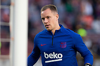 7th March 2020; Camp Nou, Barcelona, Catalonia, Spain; La Liga Football, Barcelona versus Real Sociedad; Marc Andre ter Stegen of FC Barcelona in warm up