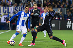 Ruben Perez of Club Deportivo Leganes competes for the ball with Danilo Luiz da Silva of Real Madrid during the match of  La Liga between Club Deportivo Leganes and Real Madrid at Butarque Stadium  in Leganes, Spain. April 05, 2017. (ALTERPHOTOS / Rodrigo Jimenez)