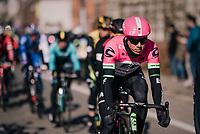 shiny Sep Vanmarcke (BEL/Education First-Drapac)<br /> <br /> Omloop Het Nieuwsblad 2018<br /> Gent &rsaquo; Meerbeke: 196km (BELGIUM)