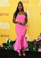 "01 August 2019 - Los Angeles, California - Nia Jervier. Netflix's ""Dear White People"" Season 3 Los Angeles Premiere held at TRegal Cinemas LA Live. Photo Credit: Birdie Thompson/AdMedia"