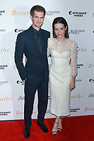 NEW YORK, NY - OCTOBER 9: Andrew Garfield and Claire Foy at the NY Special Screening of BREATHE at AMC Loews Lincoln Square 13 on October 9, 2017 in New York City. <br /> CAP/MPI99<br /> &copy;MPI99/Capital Pictures