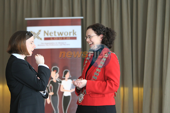 Guest Speaker and Cllr Marianne Butlerat the Network Ireland International Womens Day event in the Crowne Plaza Dundalk...Picture: Fran Caffrey/ www.newsfile.ie.