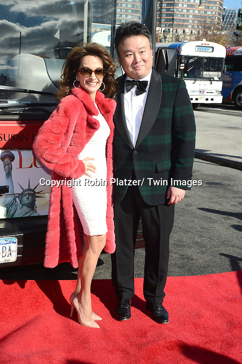 Susan Lucci and David W Chien at Susan Lucci being  Honored by Gray Line's Ride of Fame on November 19, 2013 at Pier 78 in New York City.