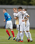 Calum Gallagher congratulated on opening the scoring for Dumbarton