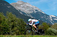 Picture by Alex Whitehead/SWpix.com - 26/09/2018 - Cycling - UCI 2018 Road World Championships - Innsbruck-Tirol, Austria - Elite Men's Time Trial - Tao Geoghegan Hart of Great Britain.
