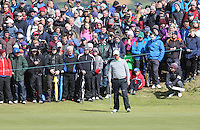Sunday 31st May 2015; Padraig Harrington, Ireland, on the 7th green<br /> <br /> Dubai Duty Free Irish Open Golf Championship 2015, Round 4 County Down Golf Club, Co. Down. Picture credit: John Dickson / DICKSONDIGITAL