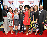 Nina Lannan, Charlotte St. Martin, Daisy Eagan, Alex Brightman, Rashidra Scott, Leslie Kritzer, Laura Penn and Anthony DePaulo attends the 8th Annual Broadway Salutes Presentation at Shubert Alley on September 20, 2016 in New York City.