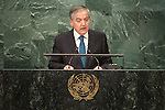 Tajikistan<br /> H.E. Mr. Sirodjidin Aslov<br /> Minister for Foreign Affairs<br /> <br /> <br /> General Assembly Seventy-first session 20th plenary meeting<br /> <br /> General Debate