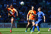 Leandro Bacuna of Reading is marked by Craig Bryson of Cardiff City during the Sky Bet Championship match between Cardiff City and Reading at The Cardiff City Stadium, Wales, UK. Sunday 06 May 2018