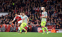 Alexis Sanchez of Arsenal scores to make it 2 1  during the UEFA Europa League match between Arsenal and FC Koln at the Emirates Stadium, London, England on 14 September 2017. Photo by Andrew Aleks.