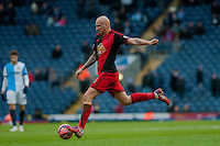 BLACKBURN, ENGLAND - JANUARY 24:  Jonjo Shelvey of Swansea City moves the ball forwards  during the FA Cup Fourth Round match between Blackburn Rovers and Swansea City at Ewood park on January 24, 2015 in Blackburn, England.  (Photo by Athena Pictures/Getty Images)