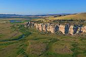 Steep cliffs once used as Buffalo jump