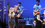 Yoko Ono,Perry FARRELL and Lady Gaga performs with We are Plastic Ono Band on night 2 at The Orpheum Theatre in Downtown Los Angeles, California on October 02,2010                                                                   Copyright 2010  Debbie VanStory / RockinExposures