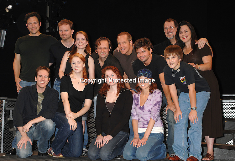 "Clockwise from left Jim Stanek, Steve Blanchard, Hunter Foster, Mandy Bruno and Christiane Noll and rest of the cast..at a press preview of ""Frankenstein"" on October 4, 2007 ..at 37 Arts in New York City. ....Robin Platzer, Twin Images....212-935-0770"