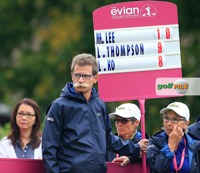 during Sunday's Final Round of the LPGA 2015 Evian Championship, held at the Evian Resort Golf Club, Evian les Bains, France. 13th September 2015.<br /> Picture Eoin Clarke | Golffile