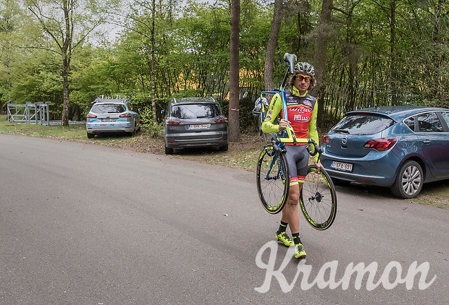 Filippo 'Pipo' Pozzato (ITA/Wilier Triestina–Southeast) arriving at the Tom Boonen farewell race/criterium 'Tom Says Thanks!' in Mol/Belgium