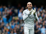 Wilfredo Caballero of Manchester City celebrates the third goal during the English Premier League match at the Etihad Stadium, Manchester. Picture date: May 6th 2017. Pic credit should read: Simon Bellis/Sportimage