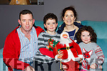 Seamus, Charlie, Susan and Katie Foley at the pop up Christmas store in Moriartys furniture store on Thursday evening