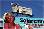 Solarcaine billboard with Golfer, Hollywood, 1977