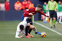Kike Barja (forward; CA Osasuna) during the Spanish football of La Liga 123, match between CA Osasuna and  RCD Mallorca at the Sadar stadium, in Pamplona (Navarra), Spain, on Sunday, January 20, 2019.