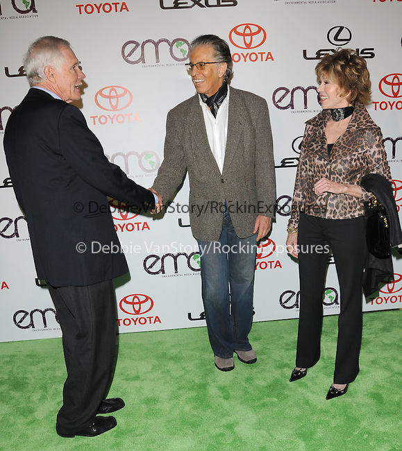 Ted Turner,Richard Perry and Jane Fonda at The 2010 Environmental Media Association Awards held at WB Studios in Burbank, California on October 16,2010                                                                   Copyright 2010  © Hollywood Press Agency