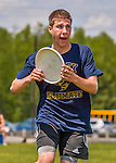 30 May 2015: Essex High School plays South Burlington in a consolation round of the VYUL State Ultimate Disk Championships at Bombardier Park in Milton, Vermont. Mandatory Credit: Ed Wolfstein Photo *** RAW (NEF) Image File Available ***