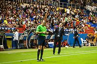 VALENCIA, SPAIN - SEPTEMBER 11: Unay Emery during BBVA LEAGUE match between Levante U.D. And Sevilla C.F. at Ciudad de Valencia Stadium on September 11, 2015 in Valencia, Spain