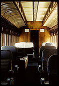 Close-up of passenger coach interior.<br /> D&amp;RGW