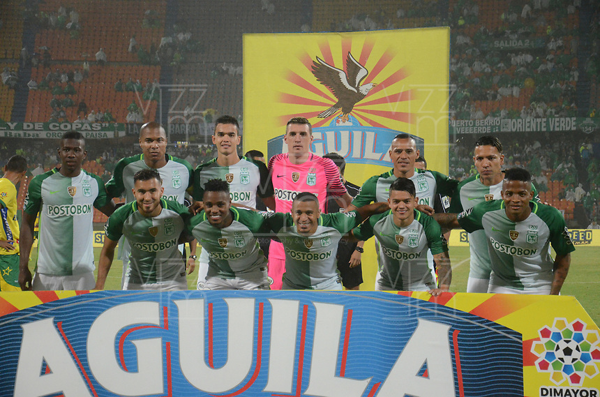 MEDELLIN -COLOMBIA, 30-9<br /> -2017. Formación del Atlético Nacional.Acción de juego entre el Atlético Nacional vs Atlético Huila   durante partido por la fecha 14 de la Liga Aguila II 2017 jugado en el estadio Atanasio Girardot de la ciudad de Medellín. / Team of Atletico Nacional.Action game beteween Atletico Nacional vs Atletico Huila during match for the date 14 of the Aguila League II 2017 played at Atanasio Girardot stadium in Medellin city. Photo:VizzoImage / León Monsalve  / Stringer