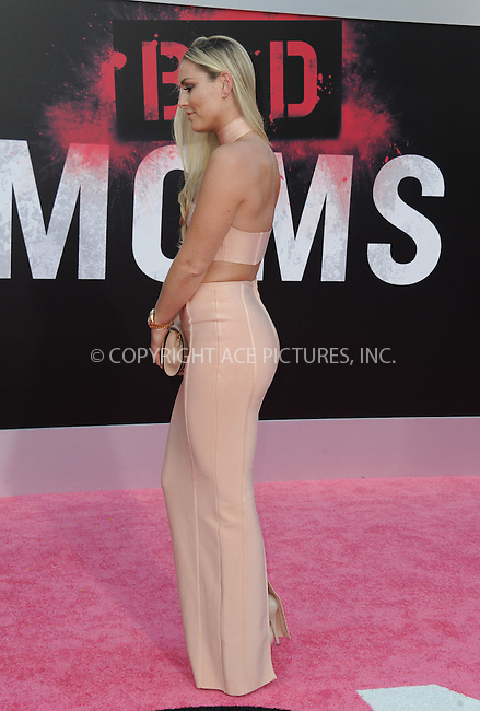 www.acepixs.com<br /> <br /> July 26 2016, LA<br /> <br /> Lindsay Vonn arriving at the premiere of 'Bad Moms' at the Mann Village Theatre on July 26, 2016 in Westwood, California.<br /> <br /> By Line: Peter West/ACE Pictures<br /> <br /> <br /> ACE Pictures Inc<br /> Tel: 6467670430<br /> Email: info@acepixs.com<br /> www.acepixs.com