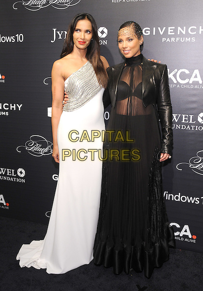NEW YORK, NY - NOVEMBER 05:Alicia Keys and Padma Lakshmi attends the 2015 'Keep A Child Alive' Black Ball at Hammerstein Ballroom on November 5, 2015 in New York City.<br /> CAP/MPI/STV<br /> &copy;STV/MPI/Capital Pictures