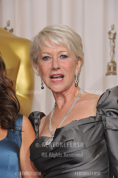 Dame Helen Mirren at the 83rd Academy Awards at the Kodak Theatre, Hollywood..February 27, 2011  Los Angeles, CA.Picture: Paul Smith / Featureflash.