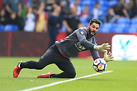 Julian Speroni of Crystal Palace during the warm up of Crystal Palace vs Brighton & Hove Albion, Premier League Football at Selhurst Park on 14th April 2018