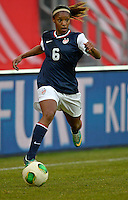 Offenbach, Germany, Friday, April 05 2013: Womans, Germany vs. USA, in the Stadium in Offenbach,   Christal Dunn (USA)..