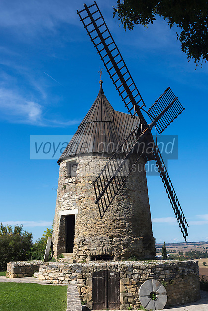 France, Aude (11),  Le moulin de Cugarel //France, Aude, Cugarel Windmill