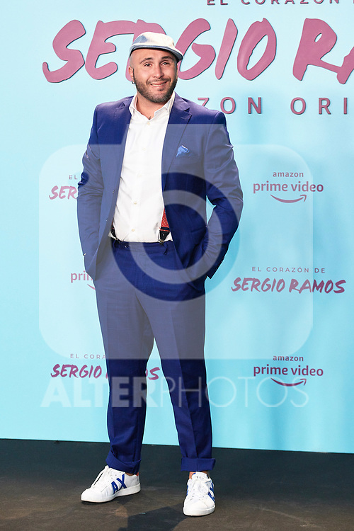 Kiko Pantoja in the world preview of EL CORAZÓN DE SERGIO RAMOS, documentary series about the life of the captain of Real Madrid and the Spanish Soccer Team, at the Reina Sofía Museum on September 10, 2019 in Madrid, Spain.<br />  (ALTERPHOTOS/Yurena Paniagua)
