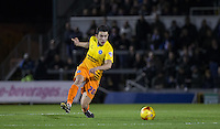 Luke O'Nien of Wycombe Wanderers plays a pass during the Sky Bet League 2 rearranged match between Bristol Rovers and Wycombe Wanderers at the Memorial Stadium, Bristol, England on 1 December 2015. Photo by Andy Rowland.