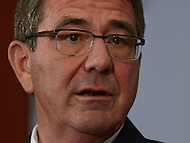 Washington, DC - April 5, 2016: U.S. Secretary of Defense Ashton Carter participates in a discussion on the future of the Department of Defense at the Center for Strategic and International Studies in the District of Columbia, April 5, 2016.  (Photo by Don Baxter/Media Images International)