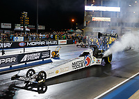 Jul 21, 2017; Morrison, CO, USA; NHRA top fuel driver Antron Brown during qualifying for the Mile High Nationals at Bandimere Speedway. Mandatory Credit: Mark J. Rebilas-USA TODAY Sports