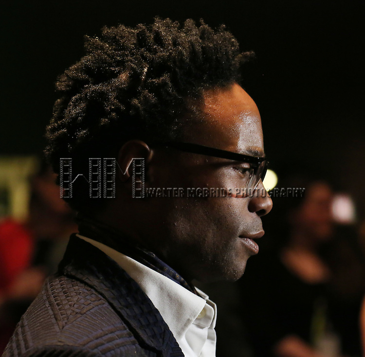 Billy Porter backstage at 'Uprising Of Love: A Benefit Concert For Global Equality' at the Gershwin Theatre on September 15, 2014 in New York City.