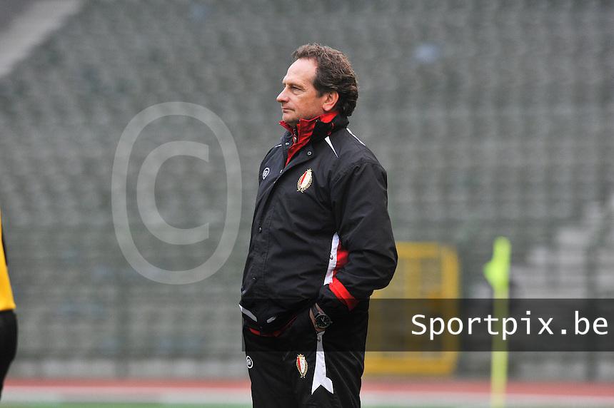RSC Anderlecht Dames - Standard Femina de Liege : Coach Patrick Wachel.foto DAVID CATRY / Vrouwenteam.be