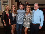 Jack Thompson celebrating his 21st birthday in Donaghys with parents Seamie and Orla and sisters Jess and Rebecca. Photo:Colin Bell/pressphotos.ie